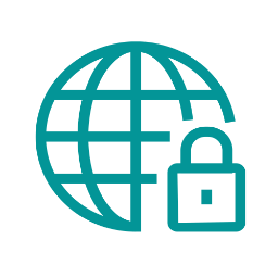 Pictogramme sécurité sur internet